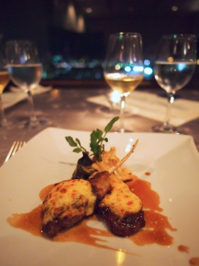 フレンチレストラン【ベイサイド】@アジュール竹芝〜最上階から東京港の夜景