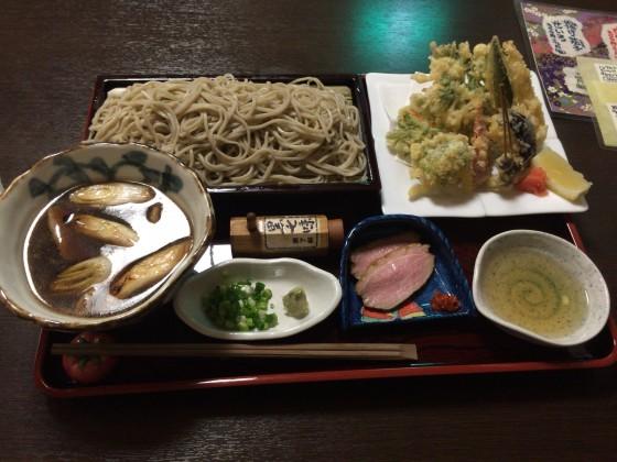 手繰りや玄治@西武線久米川駅前〜野菜天付き鴨汁せいろ