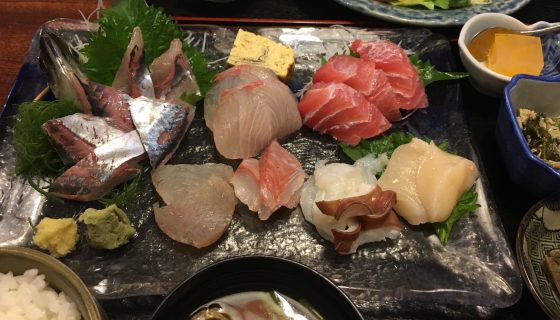 割烹『花月』@湯村温泉〜甲府で美味しい刺身定食/湯村ホテルとともに