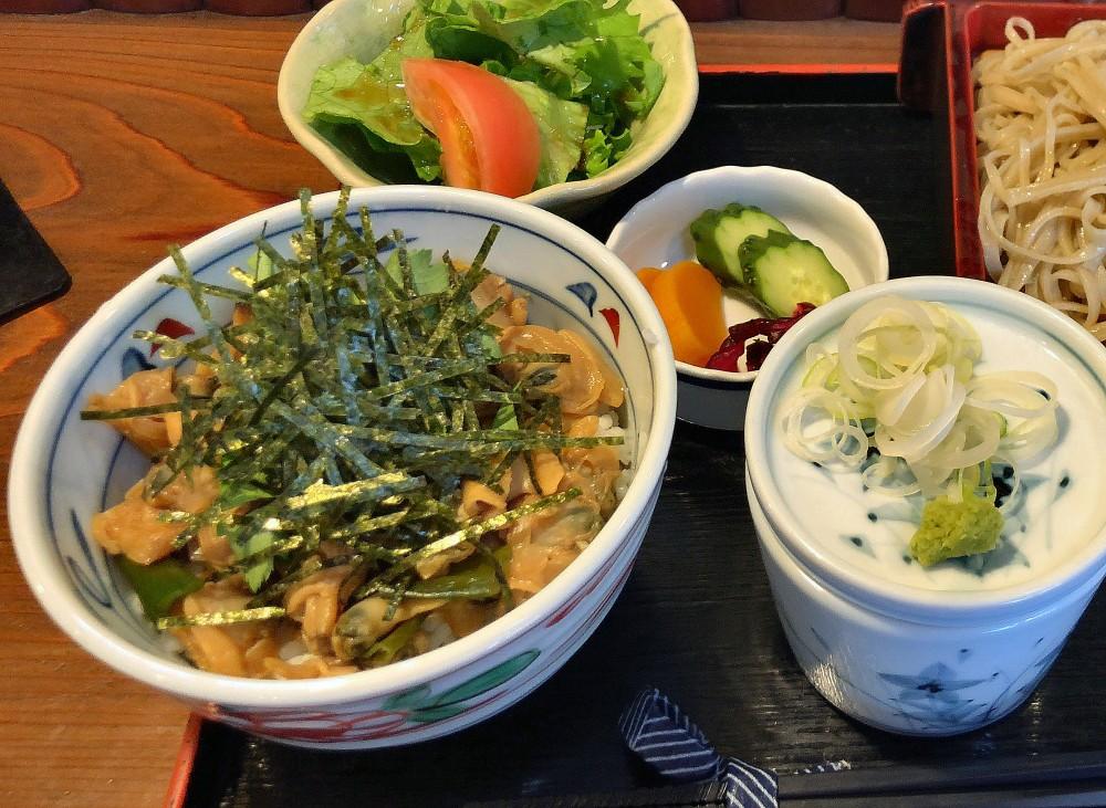 手打ち蕎麦『蕎藤』@府中市〜あさり丼定食ランチ